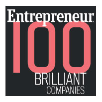 Entrepreneur magazine's Top 100 Brilliant Companies list logo